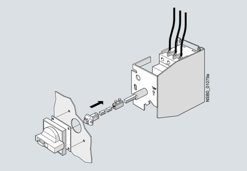 Автоматический привод двери поворотный